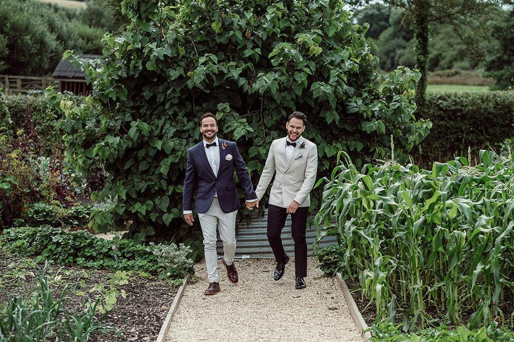 Same sex River Cottage Wedding